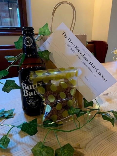 Christmas gift bag and voucher